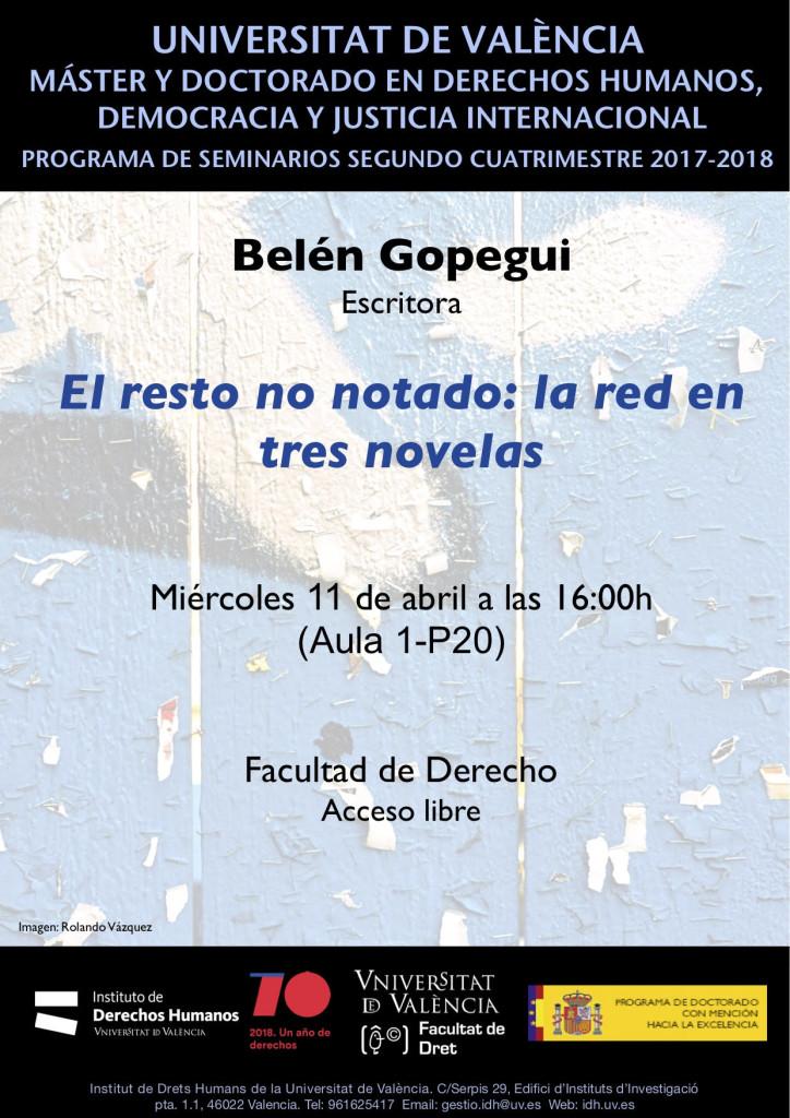CONFERENCIA BELÉN GOPEGUI