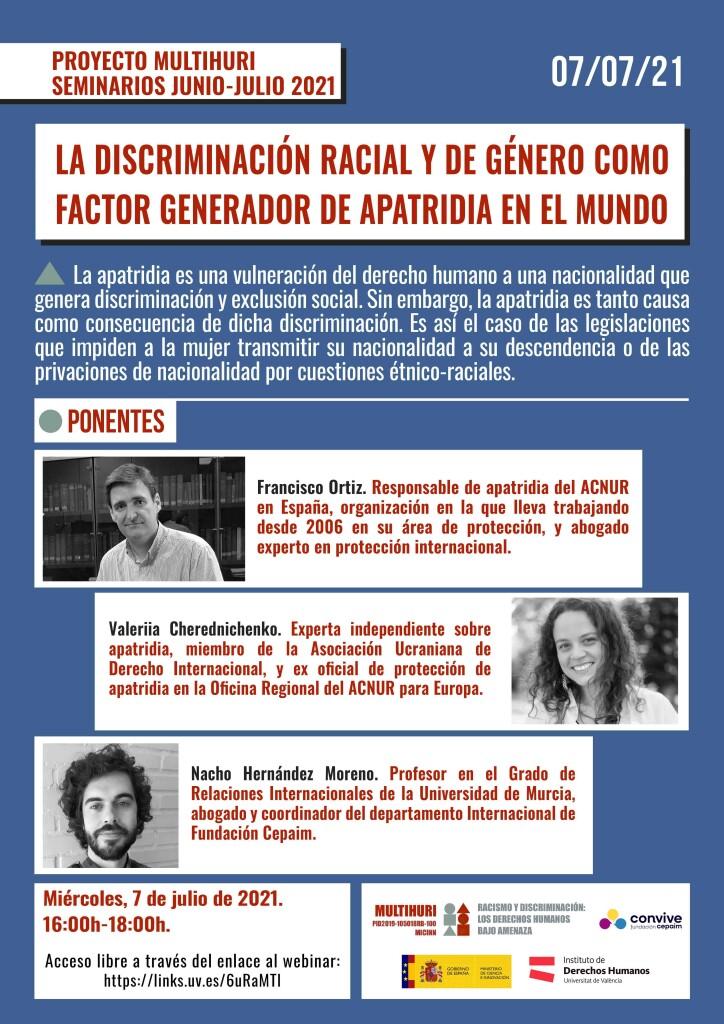 Cartel seminario 7 Julio 2021 web